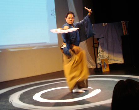 Kabuki workshop and performance by Kirk Kanesaka