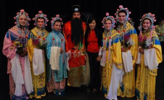 Daphne Lei and UCI Drama students