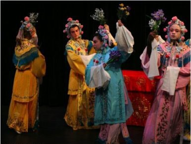 UCI Drama students dance as Flower Spirit in Kun Opera, The Peony Pavilion