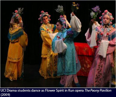 UCI Drama Students Dance as Flower Spirit in Kun opera The Poeny Pavilion