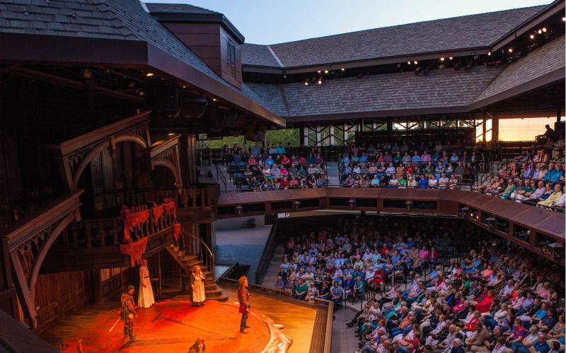 View from the balcony at Utah Shakespeare Festival