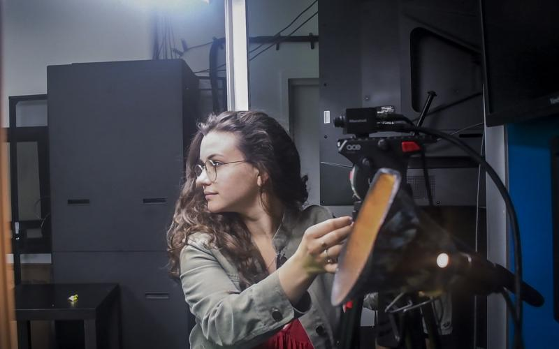 """Lyla Flashman (2019) in rehearsals for """"Reading Frakenstein"""""""